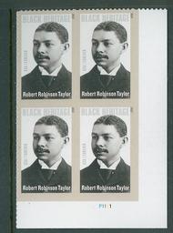 4958i (49c) Robert Robinson Taylor Imperf Plate Block 4958ipb