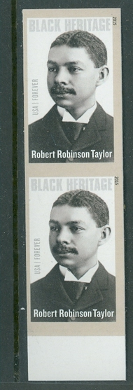 4958i (49c) Robert Robinson Taylor Imperf Vertical Pair 3958ivp