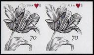 4960i 70c Vintage Tulip Mint Imperf Horizontal Pair 4960ihp