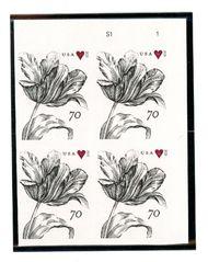 4960 70c Vintage Tulip Mint Plate Block 4960pb