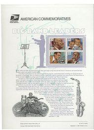 3096-99 32c Big Band Leaders USPS 497 Commemorative Panel cp497