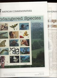 3105 32c Endangered Species(15) USPS 499 Commemorative Panel cp499