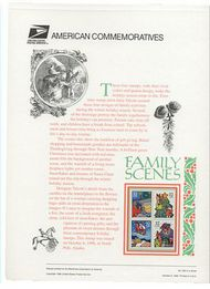 3108-11 32c Christmas-Family USPS 500 Commemorative Panel cp500