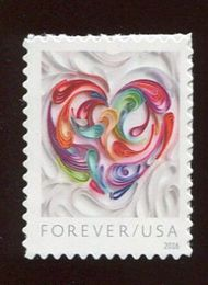 5036 Forever Quilled Paper Heart Used Single 5036used