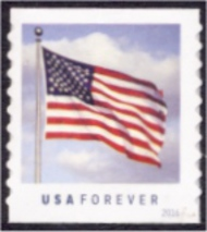 5053 Forever US Flag Coil,Potter Die Cut 9.5 Vert. Used Single 5053Used