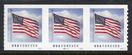 5053 Forever US Flag, Potter Coil, Die Cut 9.5 Vert PNC of 3 5053pnc3