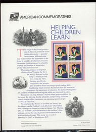 3125 32c Helping Children Learn USPS Cat. 507  Commemorative Panel cp507