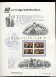3134 32c Thornton Wilder USPS Cat. 509 Commemorative Panel cp509