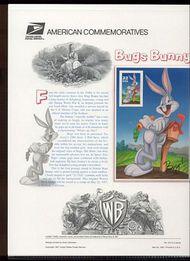 3137c 32c Bugs Bunny Sheet USPS Cat. 512 Commemorative Panel cp512