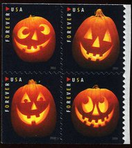 5137-40 Forever Jack O'Lanterns Set of 4 Used Singles 5037used