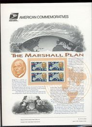 3141 32c Marshall Plan USPS Cat. 515 Commemorative Panel cp515