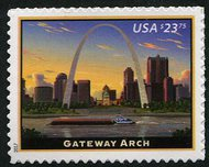 5157 $23.75 Gateway Arch  Used Single 5157used