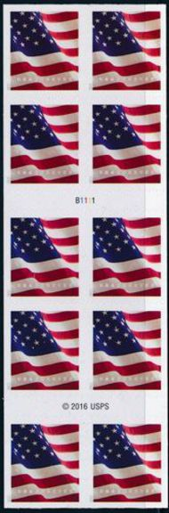 5160a Forever U.S. Flag BCA Booklet of 10 5160a