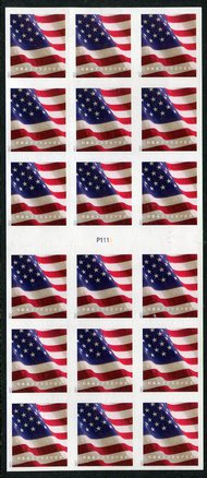 5162a Forever U.S. Flag AP from ATM Booklet Pane of 18 5162aATMbk