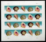 5163-66 Postcard Rate Seashells Mint Sheet of 20 5163-6sh