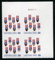 5174 (21c) Uncle Sam's Hat Plate Block of 4 5174pb