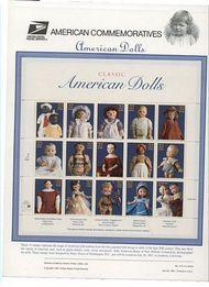3151 32c Classic Dolls(MS15) USPS Cat. 518 Commemorative Panel cp518