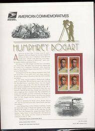 3152 32c Humphrey Bogart USPS Cat. 519 Commemorative Panel cp519