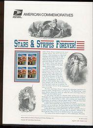 3153 32c Stars & Stripes USPS Cat. 520 Commemorative Panel cp520