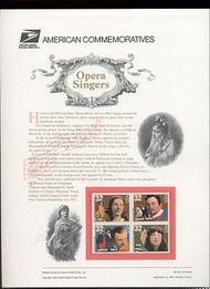 3154-57 32c Opera Singers(B4) USPS Cat. 521Commemorative Panel cp521