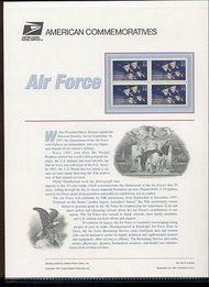 3167 32c U. S. Air Force USPS Cat. 524 Commemorative Panel cp524