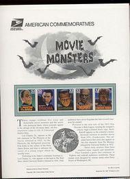 3168-72 32c Movie Monsters USPS 525  Commemorative Panel CP525