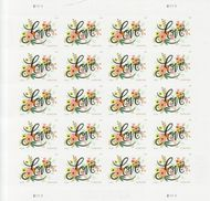 5255 Forever Love Flourishes Sheet of 20 5255sh