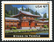 5257 $6.70 Byodo-In Temple Priority Mail Mint Single 5257nh
