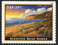 5258 $24.70 Sleeping Bears Dunes Express Mail Mint Single 5258nh