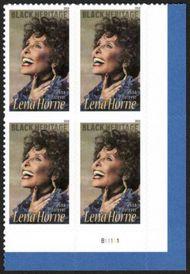 5259 Forever Lena Horne Plate Block 5259pb