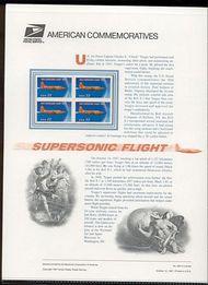 3173 32c Supersonic Flight  USPS Cat. 526 Commemorative Panel cp526
