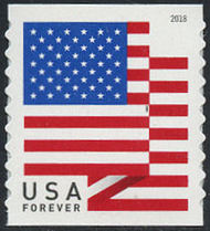 5260 Forever U.S. Flag 2018 APU Coil Mint Single 5260nh