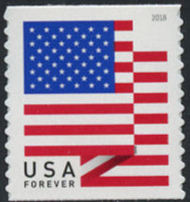 5261 Forever U.S. Flag 2018 BCA Coil Mint Single 5261nh