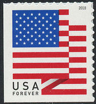 5262 Forever U.S. Flag 2018 APU Mint Single from Booklet 5262