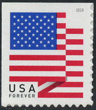 5263 Forever U.S. Flag 2018 BCA Mint Single from Booklet 5263nh