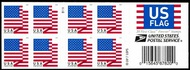 5263a Forever U.S. Flag 2018 BCA Double SIded Booklet of 20 5263a