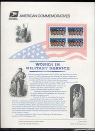 3174 32c Women in Military USPS Cat. 527 Commemorative Panel cp527