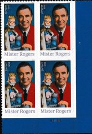 5275 Forever Mr Rogers  Plate Block of 4 5275pb