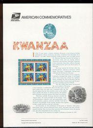 3175 32c Kwanzaa USPS Cat. 528 Commemorative Panel cp528