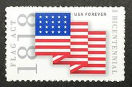 5284 Forever Flag Act of 1818 Mint Single 5283nh