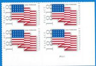 5284 Forever Flag Act of 1818 Plate Block of 4 5283pb