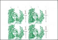 5295 $1 Statue of Freedom Mint Plate Block of 4 5295pb