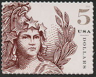 5297 $5 Statue of Freedom Mint Single 5297nh