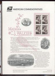 3181 32c Madam C. J. Walker USPS CAT 533 Commemorative Panel cp533