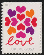 5339 Forever Hearts Blossom Mint  Single 5339nh