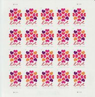 5339 Forever Hearts Blossom Mint Sheet of 20 5339sh