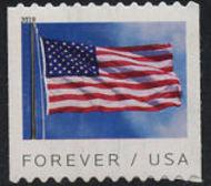 5343 Forever Flag Coil BCA Mint  Single 5343nh