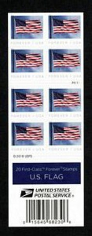 5344a Forever Flag AP Booklet Mint Double Sided Booklet of 20 5344a