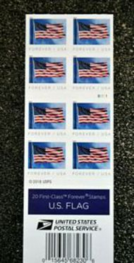 5345a Forever Flag BCA Booklet Mint Double Sided Booklet of 20 5345a