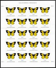 5346 (70c) California Dogface Butterfly Sheet of 20 5346sh